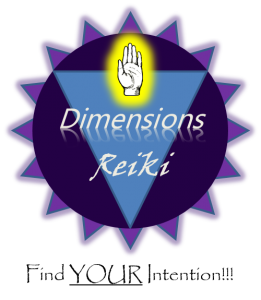 Dimensions Reiki logo-black tag line v5